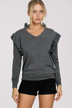 Ark & Co. Ark, Long Sleeve Sweater, V Neck, Pullover, Shoulder, Sleeves, Sweaters, Collection, Tops