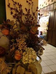 Harvest flowers in old milk can