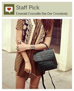 Emerald Crocodile Bar-Der Crossbody