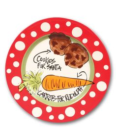 Look what I found on #zulily! Cookies & Carrots Plate #zulilyfinds