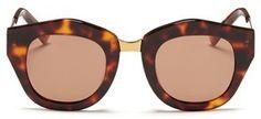 SPEKTRE 'Mon Amour' tortoiseshell acetate angular sunglasses - $195.00