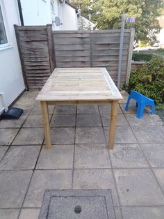 Wood Table, Outdoor Furniture, Outdoor Decor, Wood Pallets, Home Decor, Timber Table, Decoration Home, Pallet Wood, Room Decor