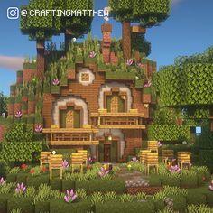 Minecraft Garden, Minecraft Farm, Minecraft Mansion, Cute Minecraft Houses, Minecraft Plans, Minecraft Survival, Minecraft Blueprints, Minecraft Crafts, Minecraft Stuff