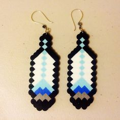 Hades Inspired Perler Bead Feather Earrings por MainStreetBowtiquee