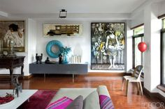 An Eclectic Home in Manila - Bobby Gopiao Philippines Home - ELLE DECOR