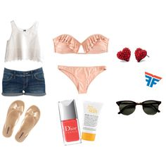 Summer, created by alixrmz on Polyvore