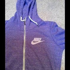 Nike full zip small jacket! Brand new Made of 60% cotton  40 % polyester! Brand new! Nike full zip jacket with hood Nike Jackets & Coats