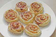 Blätterteig-Flammkuchen-Röllchen