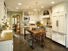 French Country Kitchen Blue And Yellow good-looking-butcher-block-kitchen-island-in-kitchen-traditional