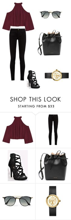 """Untitled #1"" by katieharper0719 ❤ liked on Polyvore featuring W118 by Walter Baker, Gucci, Mansur Gavriel, Ray-Ban and Tory Burch"