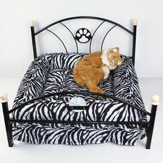 Paws Road Pet Beds Dog/cat Bed Soft Warm Dog Kennel Pet Cushion (Zebra-stripe): Amazon.ca: Pet Supplies