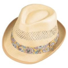 1c747cc72c8 Henschel Fedora 3304 Vented Toyo Straw Hat - Wheat Hats