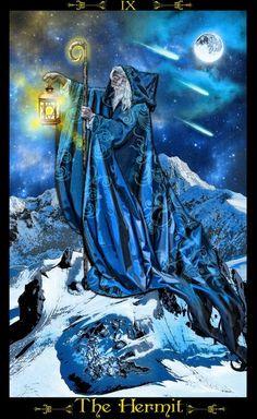 Erik C. Dunne ~ Tarot of the Illuminati: The Hermit