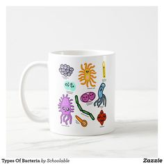 Types Of Bacteria Coffee Mug - college mug mugs diy cyo gift idea design present Coffee Travel, Travel Mugs, Personalised Blankets, Teacher Humor, Wedding Announcements, Custom Mugs, Graduation Gifts, Nursery Wall Art, Photo Mugs