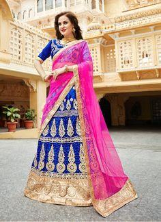 Buy Fetching Net Patch Border Work Lehenga Choli, Online  #ethnic #indianethnic #indianethnicwear #indianwedding #bridalwear #indianoutfit #indianfashion #lehenga