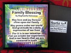 FAMILY BLESSING MAGNET Original Inspirational Words by Heartfulart, $6.00