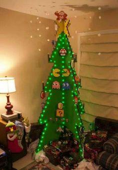 Retro gaming Christmas tree.