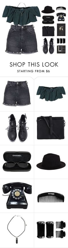 """"""" My mother was a tailor, she sowed my new blue jeans. My sweetheart he was a gamblin' man, down in New Orleans. """" by centurythe ❤ liked on Polyvore featuring Topshop, Kenzo, Pieces, Chanel, Rusty, T3, women's clothing, women, female and woman"""