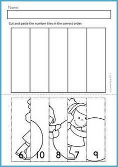 Worksheet Kindergarten Cut And Paste Worksheets farm unit literacy and preschool on pinterest winter math worksheets activities no prep