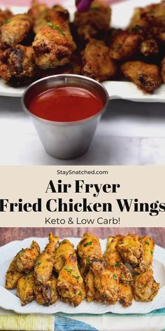 Crispy Air Fryer Fried Chicken Wings is the best quick and easy recipe that will teach you how to fry and make fried chicken in the Power XL, Nuwave, or any air fryer brand. This healthy fried chicken is also keto, low-carb, and gluten-free. Air Fried Chicken Wings Recipe, Low Carb Chicken Wings, Healthy Fried Chicken, Air Fry Chicken Wings, Air Fryer Fried Chicken, Making Fried Chicken, How To Fry Chicken, Fried Chicken Seasoning, Gluten Free Fried Chicken
