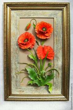 Купить МАКИ картина - фарфоровые маки, фарфор, фаянс, цветы из фарфора, керамическая флористика, Керамика