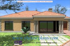 Home Design Plan With 3 Bedrooms Round House Plans, Tuscan House Plans, Free House Plans, House Plans With Photos, Modern House Plans, House Floor Plans, House Plans Mansion, Three Bedroom House Plan, Cottage House Plans