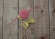 Gold Felt Headband Set  Newborn/Baby/Toddler Headband by Lillianas