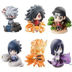 New 6pcs Uzumaki Naruto Uchiha Sasuke Mythical Animal Figure Figurine