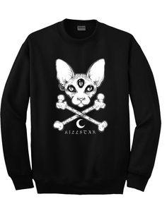 kills cat sweatshirt