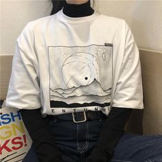 Source by neatcoconutboi turtleneck outfit White Turtleneck Outfit, White Tshirt Outfit, Loose Shirt Outfit, Turtleneck Shirt, Layering Outfits, Grunge Outfits, Fashion Outfits, Layering Clothes, Layering Shirts