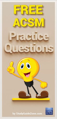 Get free ACSM practice questions and study tips to help you prep for the ACSM test. #acsmtest #acsmprep