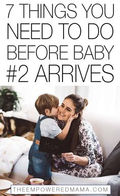 Preparing for your second baby is totally different to preparing for your first. Add these simple things to do before baby number 2 arrives to your list to ensure you make the most of the time you have before your second baby arrives. 2nd Baby, Second Baby, Second Child, First Baby, Baby Baby, Before Baby, After Baby, Baby Sister, Mom And Baby