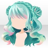 (Hairstyle) DayDream Shepherd buns on Hair ver.a green. Anime Girl Hairstyles, Kawaii Hairstyles, Pelo Anime, Chibi Hair, Oil Painting Techniques, Painting Tutorials, Hair Sketch, Dibujos Cute, Poses References