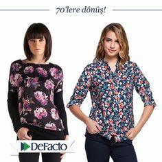 DeFacto ile 70'lere dönüş! 70'lerin çiçek desenlerini şimdi dolabınızda bulundurma zamanı!