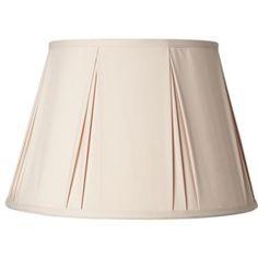Almond Pinch Pleat Empire Lamp Shade 12x18x12 (Spider) -