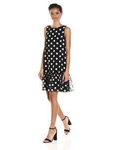 Tommy Hilfiger Women's Polka Dot Chiffon Ruffled Hem Dress  https://www.amazon.com/gp/product/B01N5K8MRK/ref=as_li_qf_sp_asin_il_tl?ie=UTF8&tag=rockaclothsto-20&camp=1789&creative=9325&linkCode=as2&creativeASIN=B01N5K8MRK&linkId=d8b5d2c3cec503aefb1e6d0c38bfb167