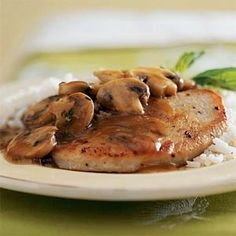 This easy variation on traditional chicken marsala features turkey cutlets smothered in a delicious homemade pan sauce. Serve over a bed of white rice Cutlets Recipes, Chicken Recipes, Cabbage Recipes, Turkey Chops, Turkey Cutlets, Cooking Recipes, Healthy Recipes, Healthy Meals, Italian Recipes