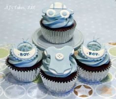 Baby Boy Cupcakes! — Baby Shower