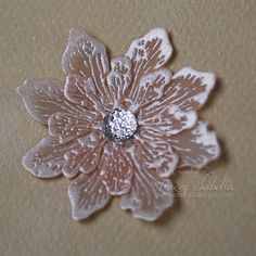Embossed Vellum Flower Tutorial by Tracey Sabella