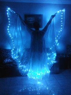 New Egyptian handmade bellydance Led Wings dance by JasmineBazzar
