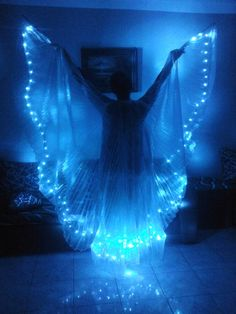 New Egyptian handmade bellydance Led Wings dance by JasmineBazzar