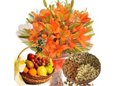 Flowers with Cakes Delivery in Hyderabad http://goo.gl/YWlsBJ Call: +91 903 007 1122