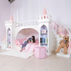 Pretty Princess Bedroom Design And Decor Ideas For Your Lovely Girl is part of Girls bedroom furniture Little girls and princesses since the invention of the fairy tale, they go hand in hand - Bed For Girls Room, Little Girl Rooms, Kids Bedroom Ideas For Girls, Childrens Bedrooms Girls, Modern Girls Rooms, Childrens Beds, Bedroom Modern, Girls Bedroom Furniture, Baby Bedroom