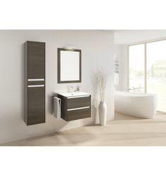 Ensemble de salle de bain FONTE black 60cm - Meuble Salle de bain une vasque - Décoration salle de bain