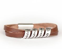 Women's Hidden Message Bracelet - Personalized Leather Bracelet  - Quote Jewelry on Etsy, $42.00 AUD