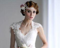 flapper style Gatsby bride