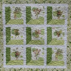 Baby Quilt  Apple Fairy Frost by QuiltsintheCity on Etsy