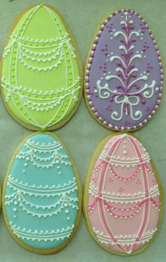 Easter Egg Cookies from Wendy Kromer Confections
