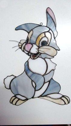 . Trabajos en cristal de tiffany para decorar --> Conejo Disney 75� --- Misterio 30� ---> Soldado Imperial 60� (Hacemos cualquier dise�o en cristales tiffany, tambi�n todo tipo de l�mparas)