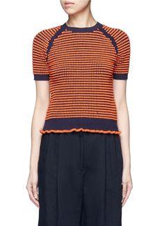 3.1 PHILLIP LIM Polka Dot Bouclé Ruffle Knit Top.  3.1philliplim  cloth   5b595c8143d7